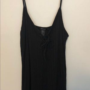 Rubbed basic black dress